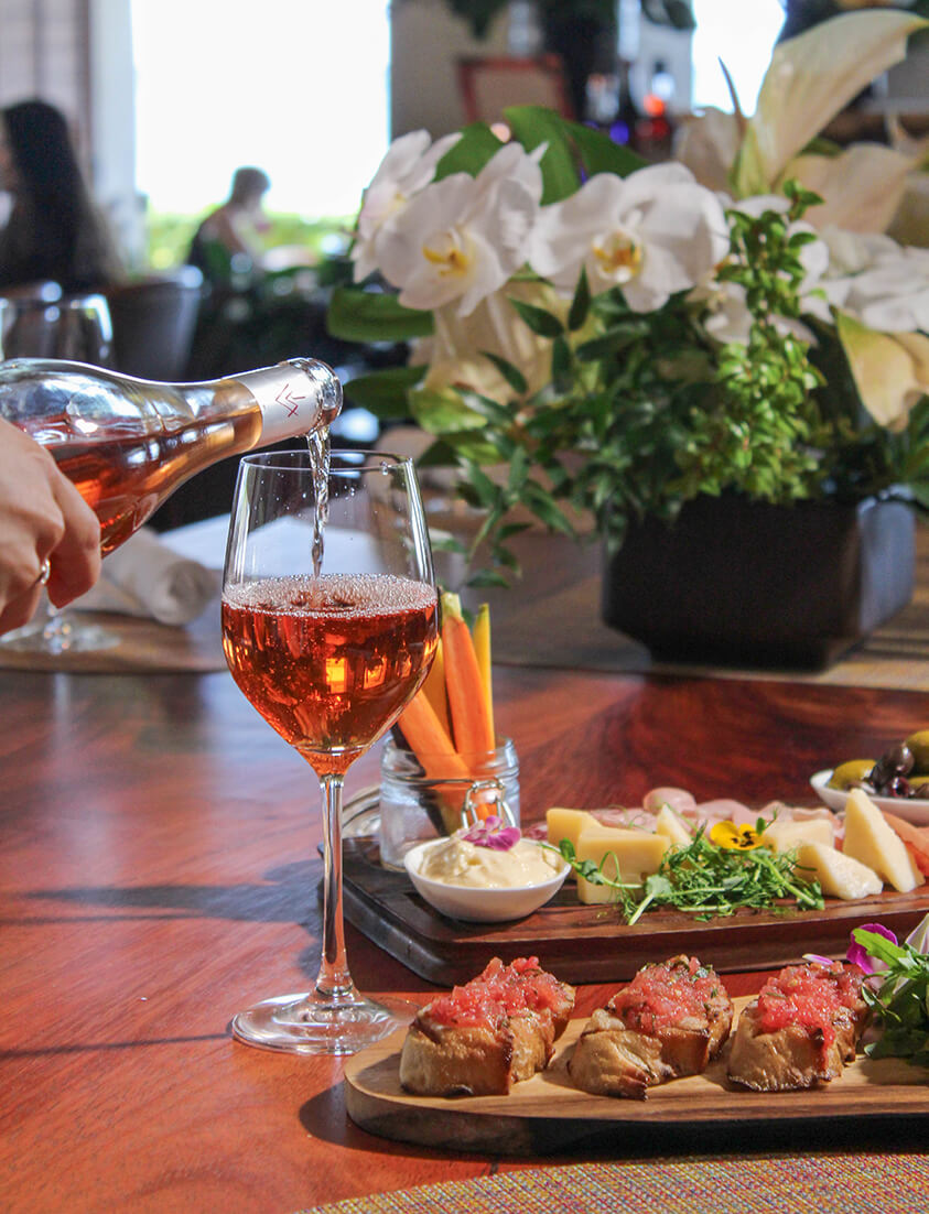 Wine and tapas style dishes at Cattleya Wine Bar