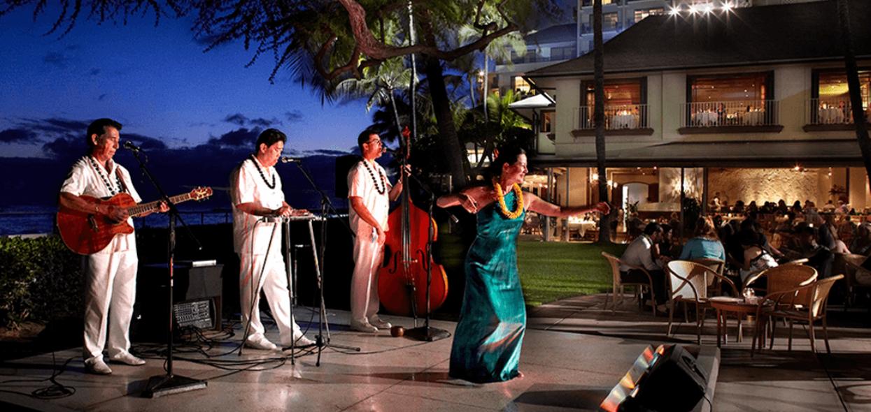 Nightly entertainment featuring Hawaiian music and hula