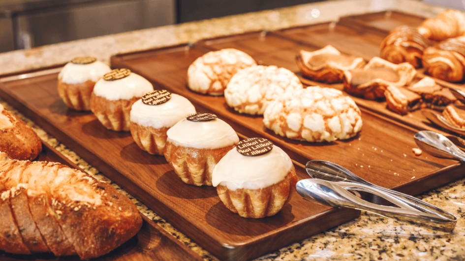 Freshly baked goods at Halekulani Bakery & Restaurant