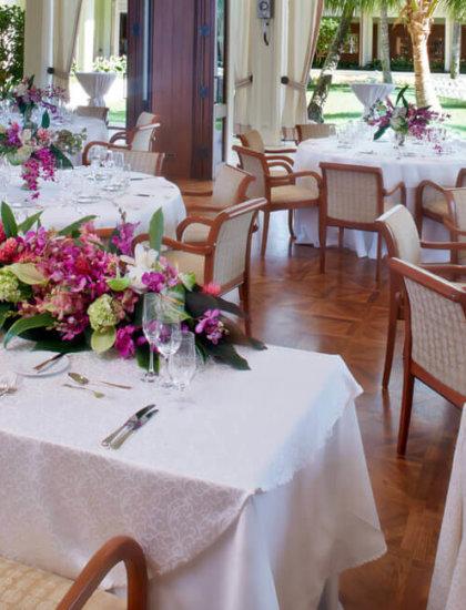 Garden Terrace set for a banquet reception