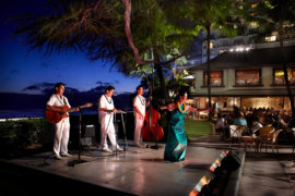 Nightly entertainment featuring Hawaiian music and hula