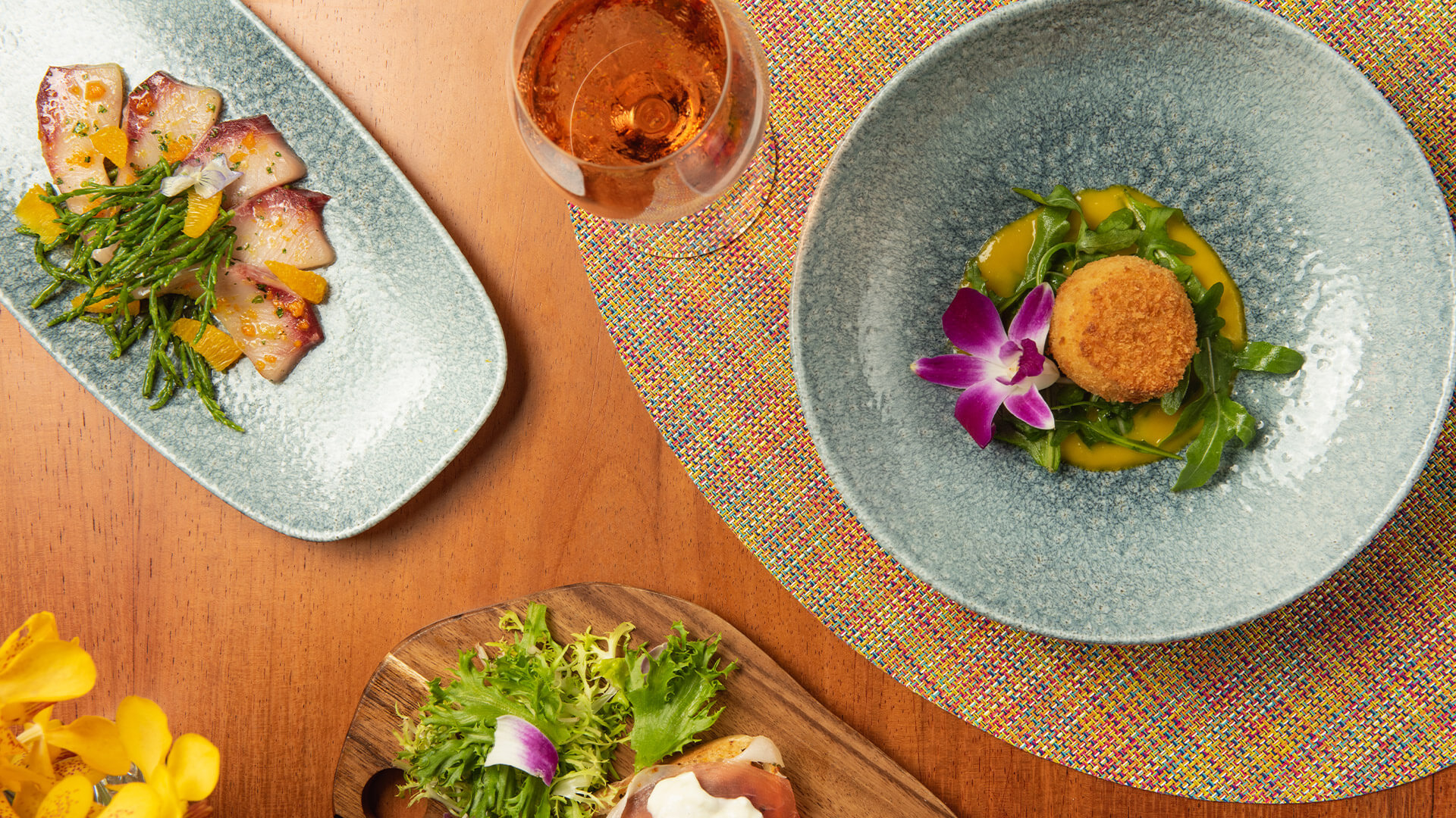 Wine paired with Mediterranean-influenced tapas style dishes