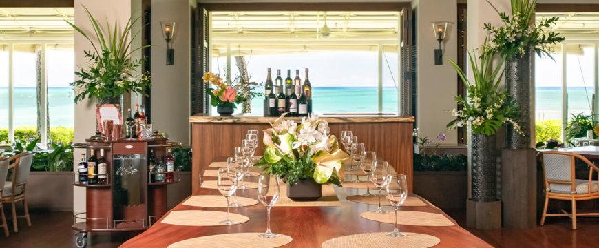 Communal table at Cattleya Wine Bar
