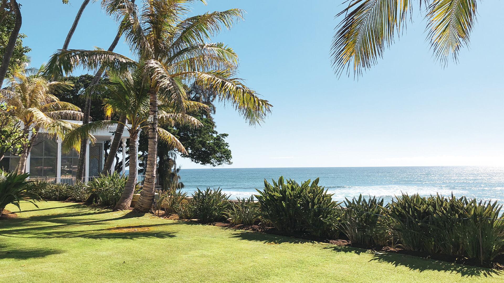 Ocean front at Shangri-La