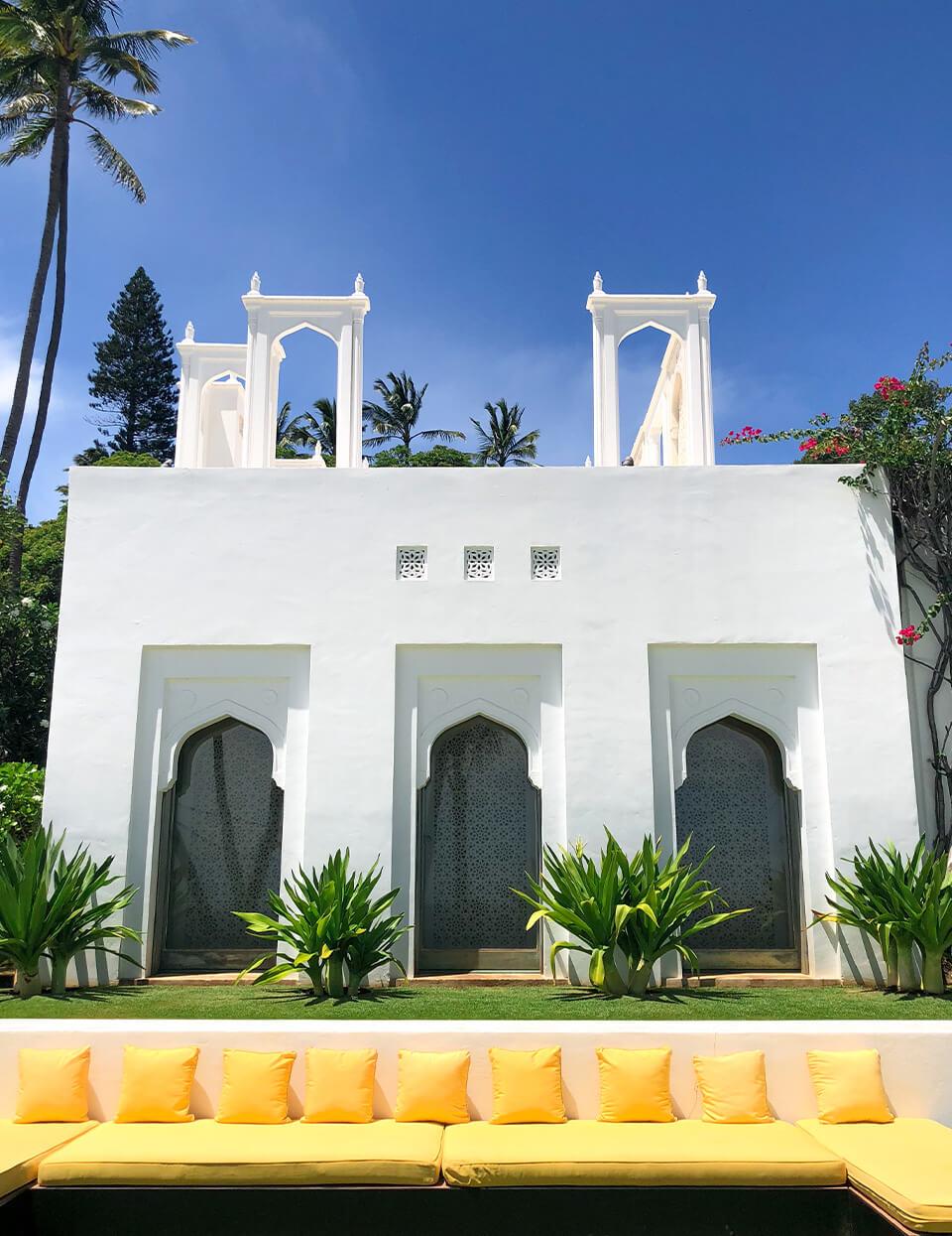 Shangri La museum lawn
