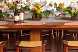 Communal table at Cattleya Wine Bar