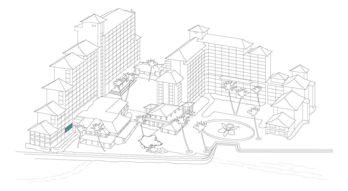 Resort map diagram, Executive Luxury Suite, a premier suite