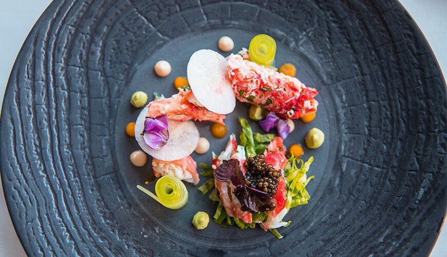 Lobster Salad at Orchids restaurant