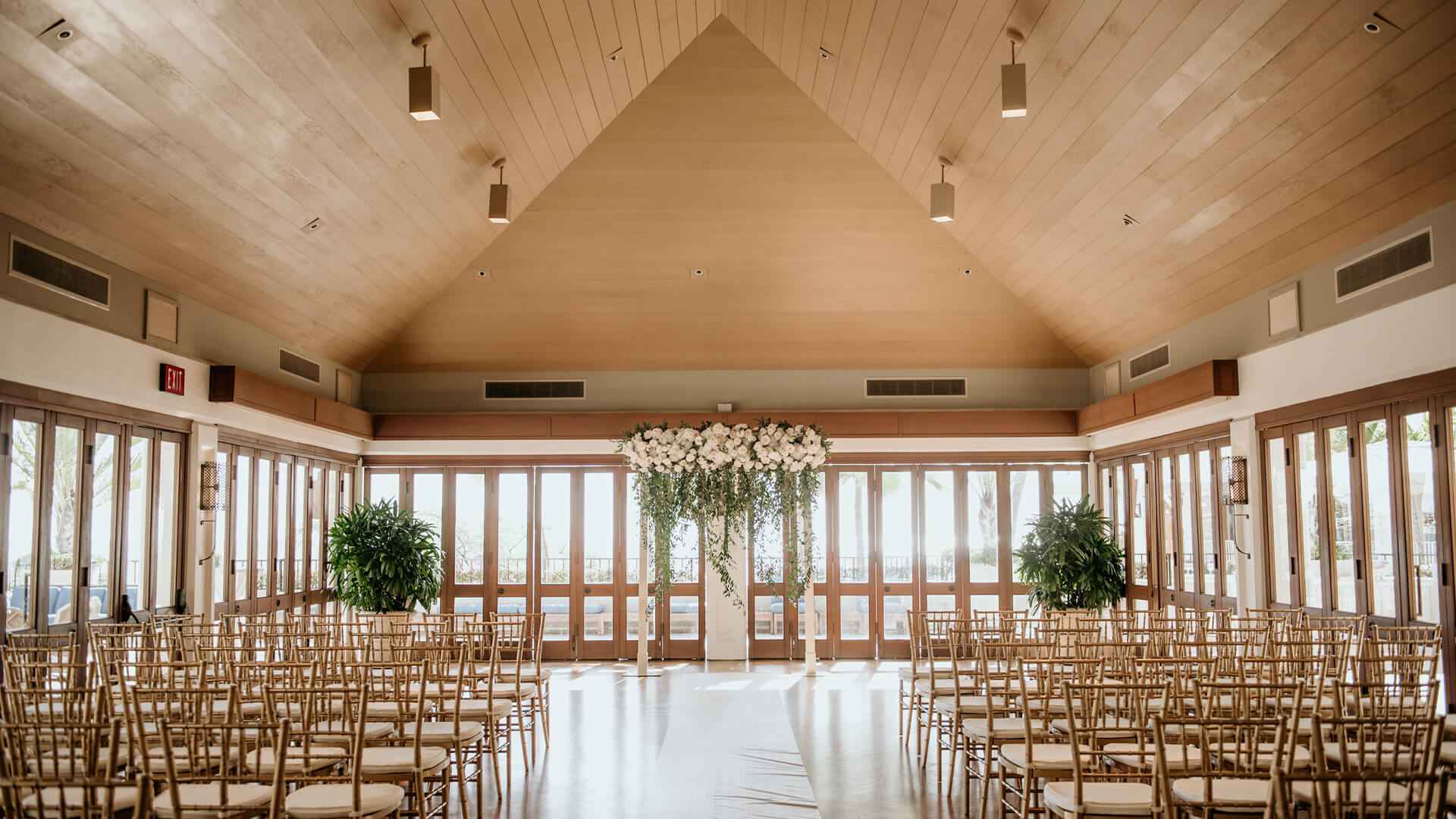 Hau Terrace can be set up as a wedding ceremony or reception venue