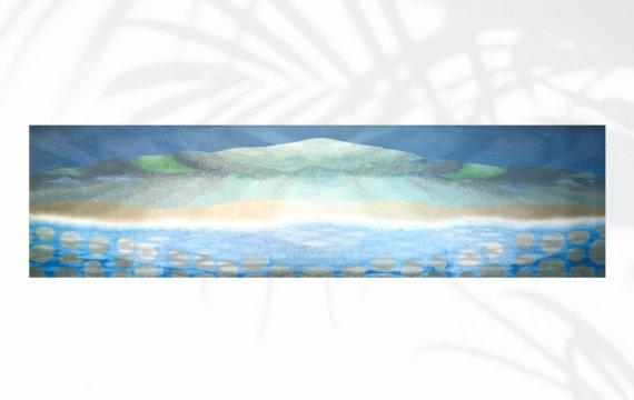Surf and Submerged Rocks by Tadashi Sato